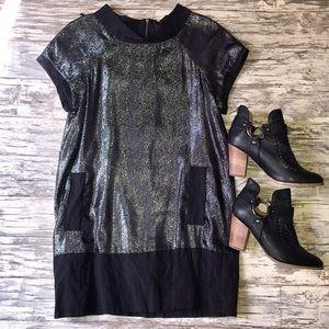 Malene Birger Black sparkle dress with zipper back